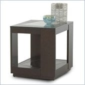 Klaussner Furniture Sequoia End Table with Glass Top and Shelf