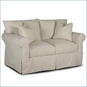 Klaussner Furniture Jenny Slipcover Love Seat