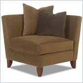 Klaussner Furniture Corner Chair in Belsire Pecan