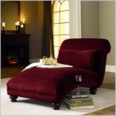 Klaussner Furniture Reststop Chaise Lounge in Red