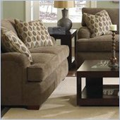 Klaussner Furniture Vaughn Brown Upholstered Loveseat