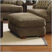Klaussner Furniture Vaughn Brown Upholstered Ottoman