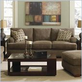 Klaussner Furniture Vaughn Brown Upholstered Sofa