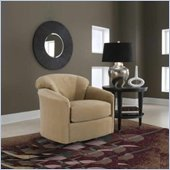 Klaussner Furniture Swivel Compact Upholstered Glider Chair