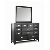 Klaussner Ashton Landscape Dresser & Mirror in Black