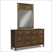 Klaussner Bardot Dresser & Mirror in Honey Brown