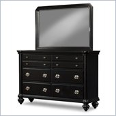 Klaussner Danbury Dresser & Mirror in Black