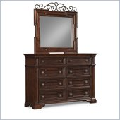 Klaussner San Marcos Dresser & Mirror in Cherry