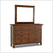 Klaussner Carturra Dresser & Mirror in Antique Bronze