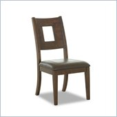 Klaussner Carturra Dining Room Side Chair in Wood and Leather