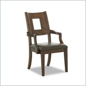 Klaussner Carturra Dining Room Arm Chair in Wood and Leather