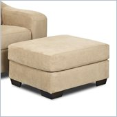 Klaussner Furniture Darien Ottoman in Voyage Camel