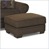 Klaussner Furniture Jonas Ottoman in Wooten Java