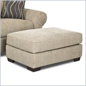 Klaussner Furniture Tiburon Ottoman in Buster Putty