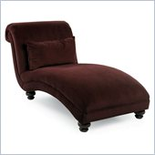 Klaussner Furniture Reststop Chaise Lounge in Berry