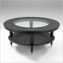 Klaussner Furniture Ontario Round Black Coffee Table