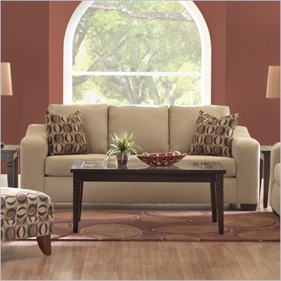 Klaussner Furniture Darien Sofa in Voyage Camel