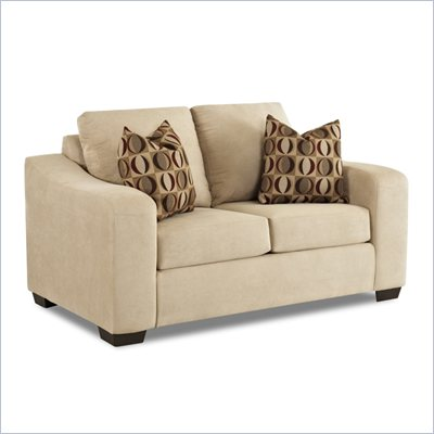 Klaussner Furniture Darien Loveseat in Voyage Camel