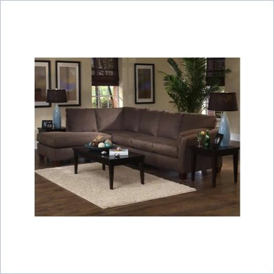 Klaussner Furniture Drew Sofa and Chaise Sectional Set in Libre Earth