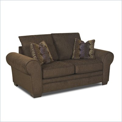 Klaussner Furniture Jonas Loveseat in Wooten Java