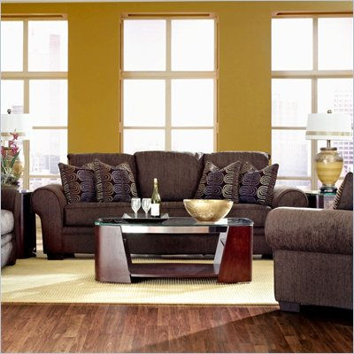 Klaussner Furniture Jonas Sofa in Wooten Java