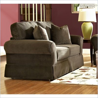 Klaussner Furniture Woodwin Loveseat in Chocolate