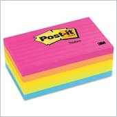 Post-it Lined Notes in Neon Colors