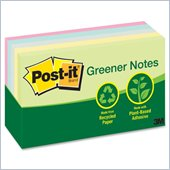 Post-it Greener Notes in Sunwashed Pier Colors