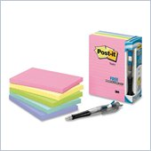 Post-it Lined Notes Value Pack in Assorted Pastel Colors with Free Flag Pen