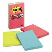 Post-it Super Sticky Lined Notes in Jewel Pop Colors