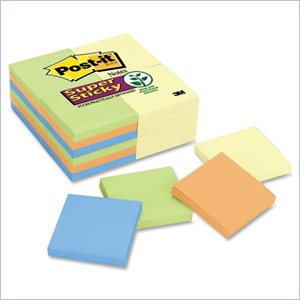 Post-it Super Sticky Notes in Canary Yellow/Electric Glow Colors