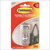 3M Command Brushed Nickel Timeless Medium Hook