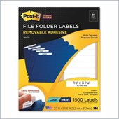 Post-it Super Sticky File Folder Label