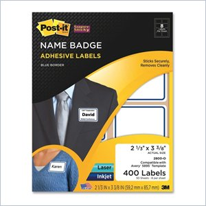 Post-it Super Sticky Name Badge Label with Border