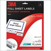 3M Permanent Adhesive Full Sheet Label