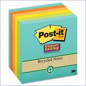 Post-it Recycled Super Sticky Notes in Farmers Market Colors