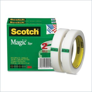 Scotch Magic 810-2P34-72 Invisible Tape