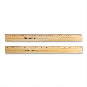 Westcott Double Metal Edge Ruler