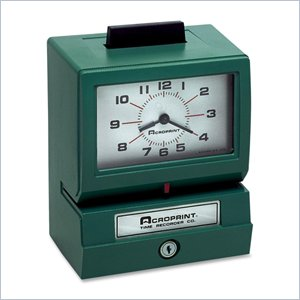 Acroprint Manual Time Clock &amp; Recorder