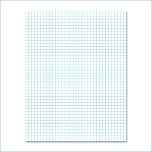Ampad Faint Blue Ink Quadrille Pad