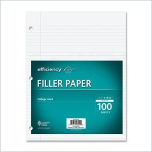 Ampad 3- Ring Notebook Filler Paper