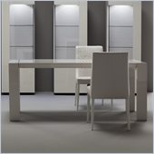 Rossetto Domino Rectangular Dining Table in Ivory with Extension