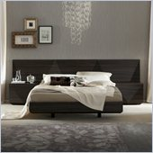 Rossetto Sapphire Platform Bed in Dark Walnut Finish