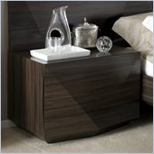 Rossetto Sapphire Dark Walnut Night Stand