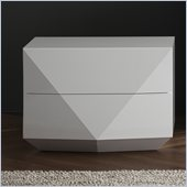 Rossetto Sapphire White Night Stand in White