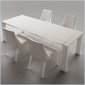Rossetto Domino 5 Piece Rectangular Dining Table Set with Extension