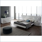 Rossetto Sapphire Platform Bed 4 Piece Bedroom in White Finish