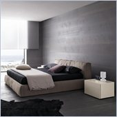 Rossetto Twist Platform Bed in Soft Grey