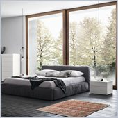 Rossetto Twist Platform Bed 5 Piece Bedroom Set in Dark Grey