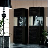 Rossetto Nightfly Right Door Curio in Ebony